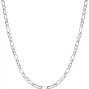 Other - Silver 925 figaro link necklace men and women new
